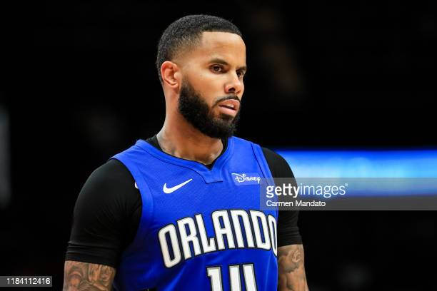 J Augustin of the Orlando Magic looks on during a game against the Atlanta Hawks at State Farm Arena on October 26 2019 in Atlanta Georgia NOTE TO...