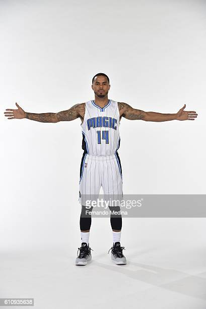 J Augustin of the Orlando Magic poses for a portrait during NBA Media Day on September 26 2016 at Amway Center in Orlando Florida NOTE TO USER User...