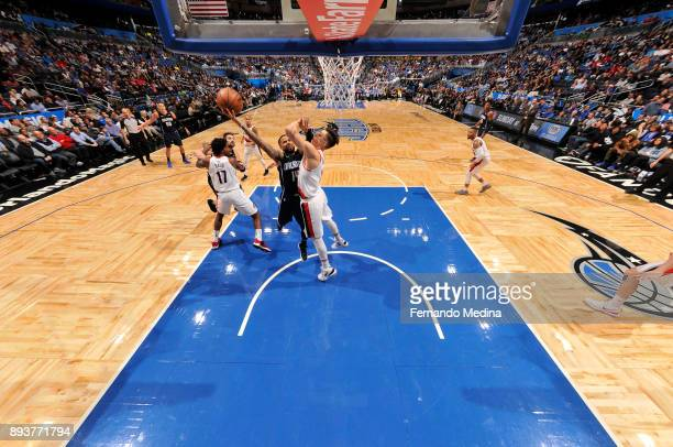 J Augustin of the Orlando Magic shoots the ball against the Portland Trail Blazers on December 15 2017 at Amway Center in Orlando Florida NOTE TO...
