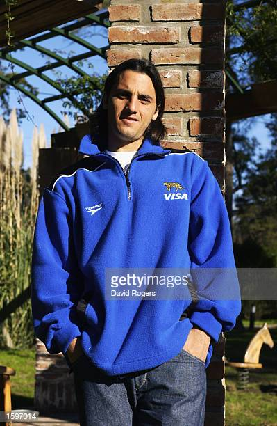 Augustin Pichot of Argentina poses for a photograph at the hotel where the Argentinian Rugby Union team are currently staying in Buenos Aires...