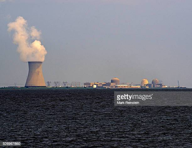 Augustine Beach Delaware 7142014 The Salem Nuclear Power plant located at the Hope Creek Generating Station in New Jersey as seen from across the...