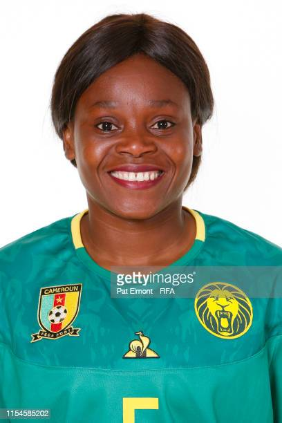 Augustine Ejangue of Cameroon poses for a portrait during the official FIFA Women's World Cup 2019 portrait session at Crowne Plaza Montpellier Corum...