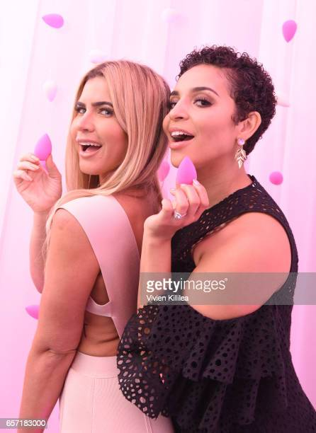 Augustine Fitness and Erica Dickerson attend beautyblender Cheers to 15 Years on March 23 2017 in West Hollywood California