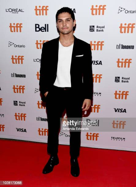 """Augusto Aguilera attends the """"The Predator"""" premiere during the 2018 Toronto International Film Festival at Ryerson Theatre on September 6, 2018 in..."""