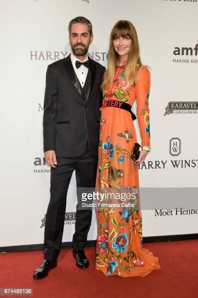 Augusto Arruda and Ana Claudia Michels attend the 7th Annual amfAR Inspiration Gala on April 27 2017 in Sao Paulo Brazil