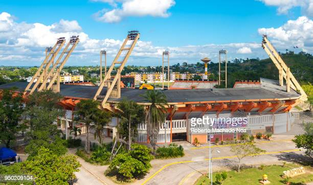 Augusto César Sandino baseball stadium, aerial view. Due to the popularity of baseball in Cuba, the stadium was designed to hold 20,000 thousand...
