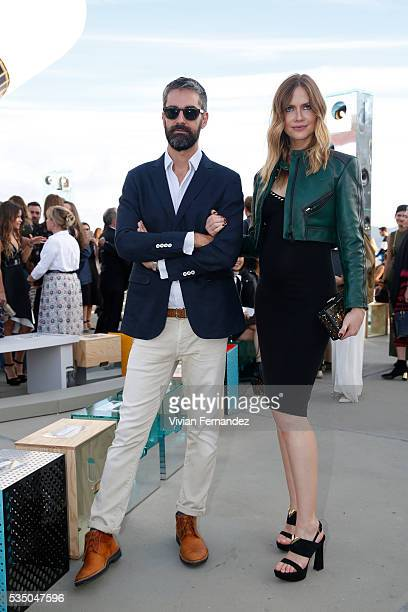 Augusto de Arruda Botelho and Ana Claudia Michels attend Louis Vuitton 2017 Cruise Collection at MAC Niter on May 28 2016 in Niteroi Brazil