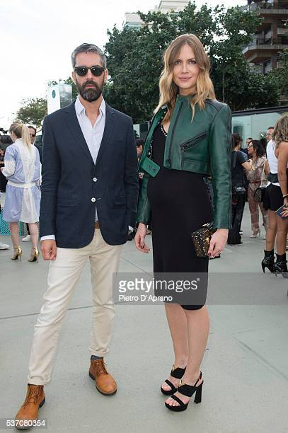 Augusto de Arruda Botelho and Ana Claudia Michels attends Louis Vuitton 2017 Cruise Collection at MAC Niter on May 28 2016 in Niteroi Brazil