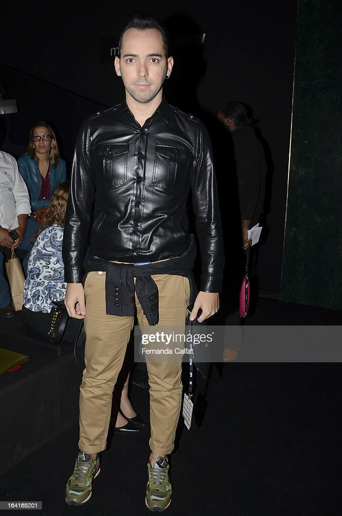 Augusto Mariotti attends the Agua de Coco show during Sao Paulo Fashion Week Summer 2013/2014 on March 20, 2013 in Sao Paulo, Brazil.
