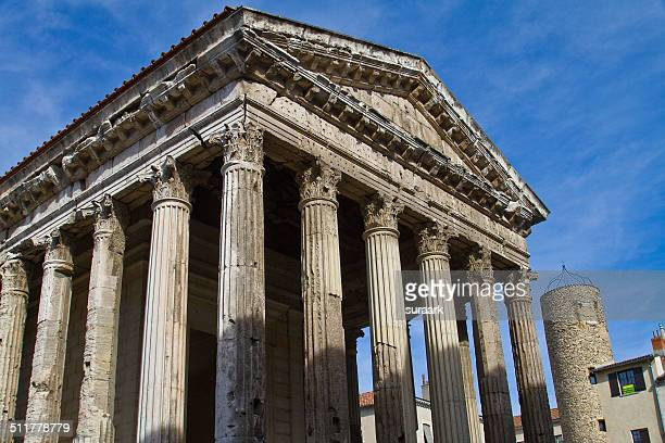 augustus and livia temple, vienne, france - isere stock pictures, royalty-free photos & images