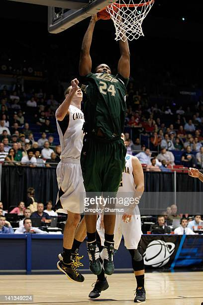 Augustus Gilchrist of the South Florida Bulls dunks in the second half against the California Golden Bears in the first round of the 2011 NCAA men's...