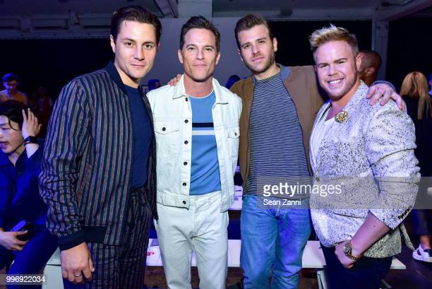Augustus Prew Mike Doyle Scott Evans and Andrew Werner attend the Todd Snyder S/S 2019 Collection during NYFW Men's July 2018 at Industria Studios on...