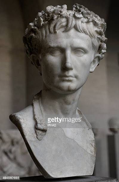 Augustus Was the founder of the Roman Empire and its first Emperor ruling from 27 BC until his death in 14 AD Augustus wears the 'civic crown' of...