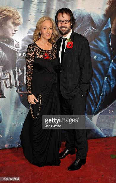 Auhor J K Rowling and husband Dr Neil Murray attend the world premiere of Harry Potter and The Deathly Hallows at Odeon Leicester Square on November...