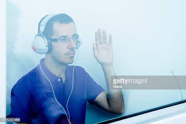 auido exam - ear exam stock photos and pictures
