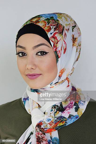 Aula Dbouk poses for a portrait whilst visiting Sara Elmir's home clothing studio on December 4 2014 in Bankstown Australia Sara Elmir 26 and mother...