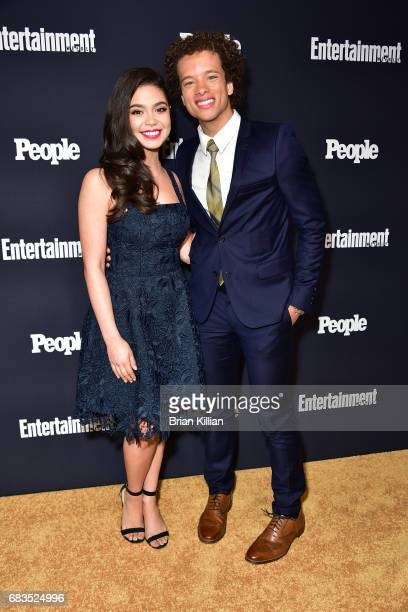 Auli'i Cravalho and Damon Gillespie attend the Entertainment Weekly People New York Upfronts at 849 6th Ave on May 15 2017 in New York City