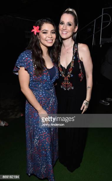 Auli'i Cravalho and Ingrid Michaelson attend Elsie Fest at Central Park SummerStage on October 8 2017 in New York City