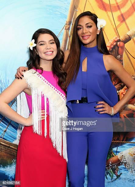 Auli'i Cravalho and Nicole Scherzinger attend the UK Gala screening of 'MOANA' at BAFTA on November 20 2016 in London England