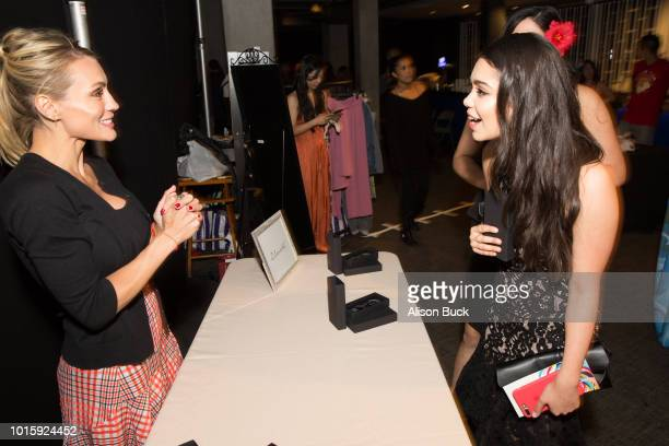 Auli'i Cravalho attends Backstage Creations Celebrity Retreat At Teen Choice 2018 Day 2 at The Forum on August 12 2018 in Inglewood California