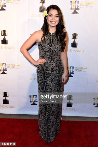 Auli'i Cravalho attends the 44th Annual Annie Awards at Royce Hall on February 4, 2017 in Los Angeles, California.