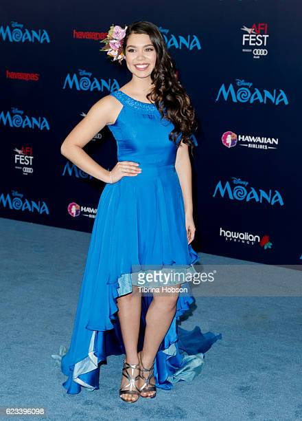 Auli'i Cravalho attends the premiere of Disney's 'Moana' at AFI FEST 2016 at the El Capitan Theatre on November 14 2016 in Hollywood California