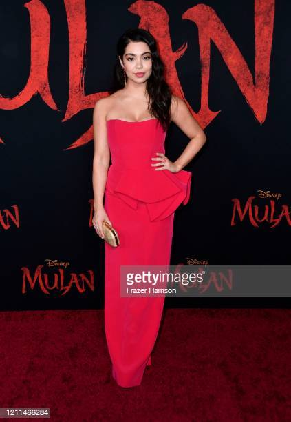Auli'i Cravalho attends the premiere of Disney's Mulan at Dolby Theatre on March 09 2020 in Hollywood California