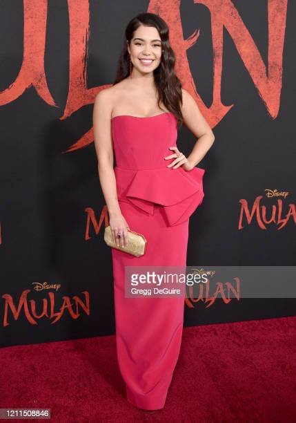 Auli'i Cravalho attends the Premiere Of Disney's Mulan on March 09 2020 in Hollywood California