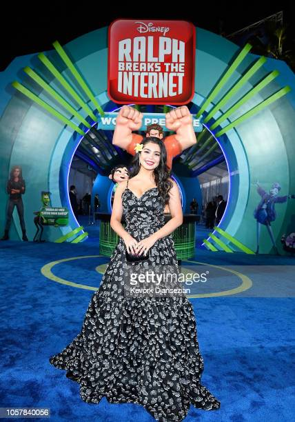 Auli'i Cravalho attends the premiere of Disney's Ralph Breaks the Internet at El Capitan Theatre on November 5 2018 in Los Angeles California