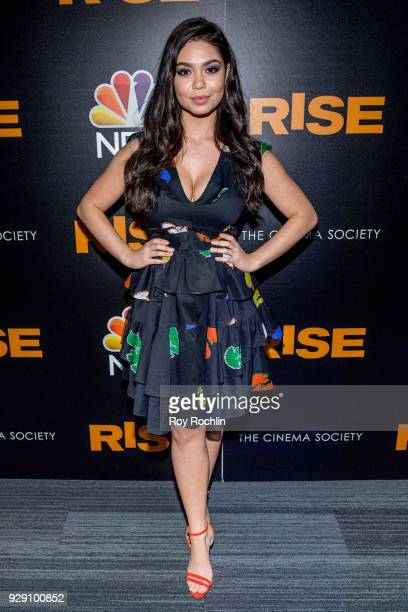 Auli'i Cravalho attends the Rise New York premiere at Landmark Theatre on March 7 2018 in New York City