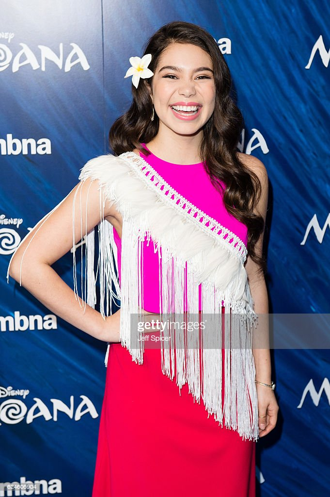 Auli'i Cravalho attends the UK Gala screening of 'MOANA' at BAFTA on November 20, 2016 in London, England.