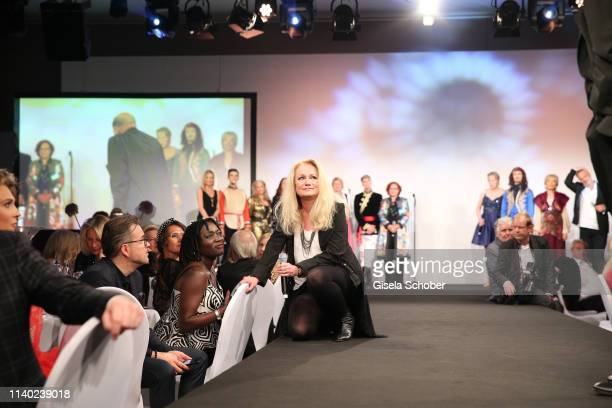 Auma Obama and singer Nicole during the 7th Fashion Charity Dinner and the Best of Awards at Hotel Leonardo Royal on April 29 2019 in Munich Germany