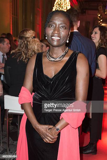 Auma Obama attends the Ein Herz Fuer Kinder Gala 2014 after show party at Tempelhof Airport on December 6 2014 in Berlin Germany