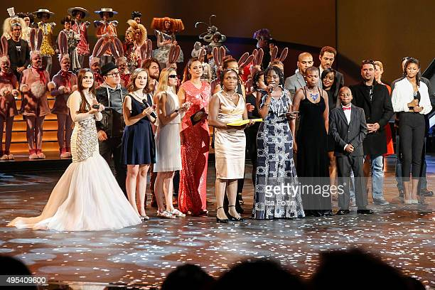 Auma Obama during the show of the 1st Act Now Jugend Award at FriedrichstadtPalast on November 2 2015 in Berlin Germany