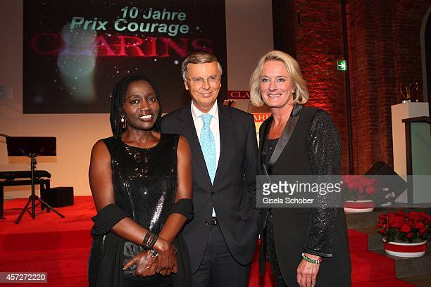 Auma Obama founder 'Sauti Kuu' Wolfgang Bosbach Sibylle Bassler attend the Prix Courage Award 2014 on October 15 2014 at AllerheiligenHofkirche in...