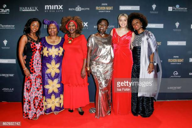 Auma Obama halfsister of former US president Barack Obama and friends during the Minx Fashion Night in favour of 'Sauti Kuu' of Auma Obama at...