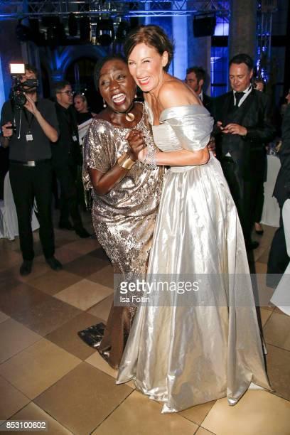 Auma Obama halfsister of former US president Barack Obama and Minx Designer Eva Lutz during the Minx Fashion Night in favour of 'Sauti Kuu' of Auma...