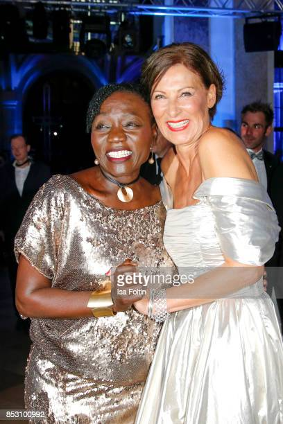 Auma Obama halfsister of former US president Barack Obama and Minx Designer Eva Lutz during the Minx Fashion Night in favour of 'Sauti Kuu' of Auma...