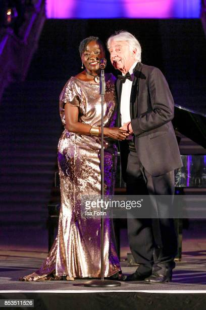 Auma Obama halfsister of former US president Barack Obama and Swiss comedian Emil Steinberger during the Minx Fashion Night in favour of 'Sauti Kuu'...