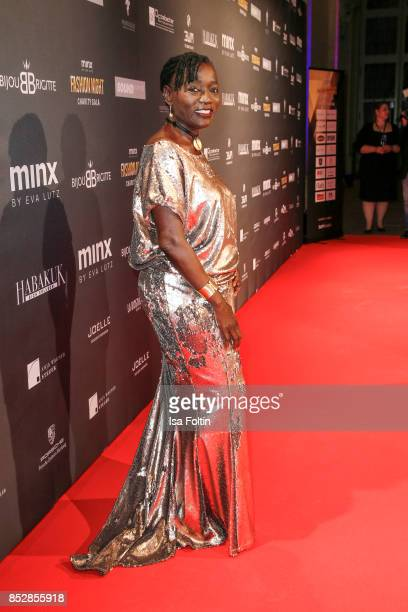 Auma Obama halfsister of former US president Barack Obama during the Minx Fashion Night in favour of 'Sauti Kuu' of Auma Obama at Wuerzburger...