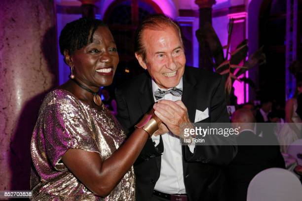Auma Obama halfsister of the former US president Barack Obama and German singer Michael Holm during the Minx Fashion Night in favour of 'Sauti Kuu'...