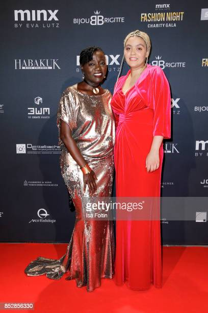 Auma Obama halfsister of the former US president Barack Obama with her daughter Akinyi Manners during the Minx Fashion Night in favour of 'Sauti Kuu'...