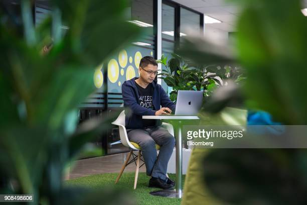 Aung Kyaw Moe founder and chief executive officer of 2C2P Pte sits for a photograph in Bangkok Thailand on Thursday Jan 18 2018 Aung is raising as...