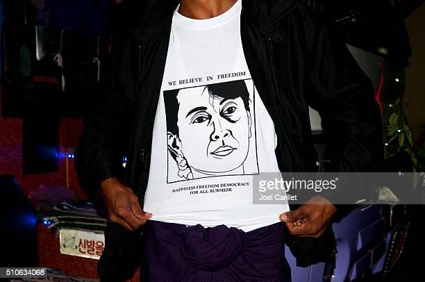 Aung San Suu Kyi t-shirt in Burma