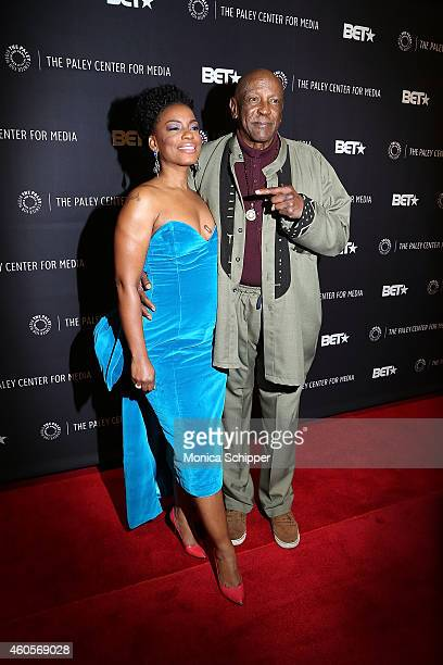 Aunjanue Ellis and Louis Gossett Jr attend 'The Book Of Negroes' Screening at The Paley Center for Media on December 16 2014 in New York City