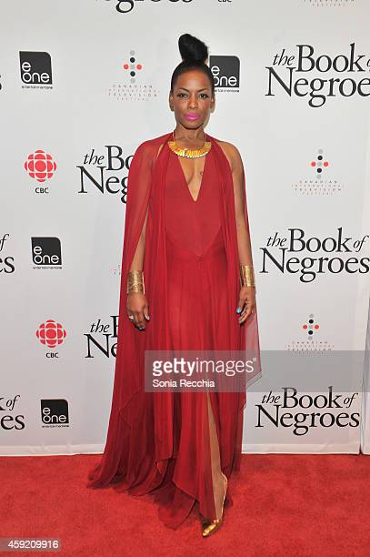Aunjanue Ellis attends The Book Of Negroes Launch Party at TIFF Bell Lightbox on November 18, 2014 in Toronto, Canada.
