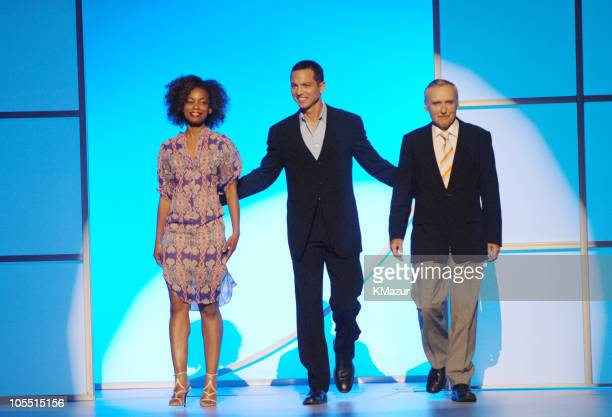 Aunjanue Ellis, Benjamin Bratt and Dennis Hopper during 2005/2006 NBC UpFront - Show at Radio City Music Hall in New York City, New York, United...