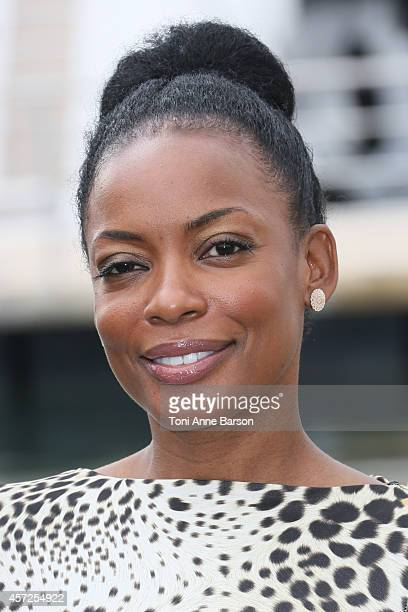 Aunjanue Ellis poses during 'The Book Of Negroes' photocall at Mipcom 2014 on October 13, 2014 in Cannes, France.