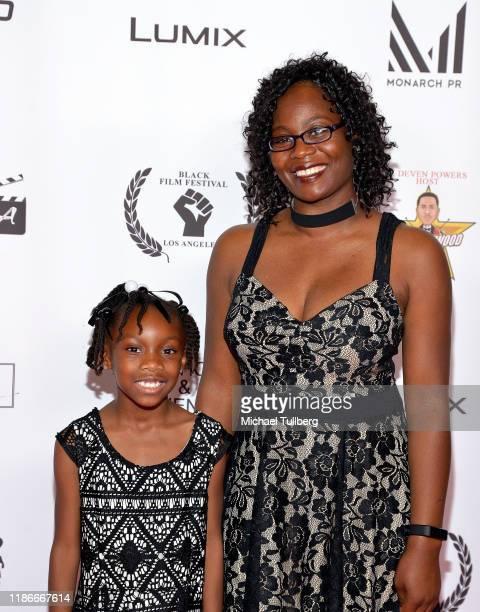 Aunjel Reliford and Marquita Scott attend the Kash Hovey and Friends Film Block at Film Fest LA at Regal Cinemas LA LIVE Stadium 14 on November 09...
