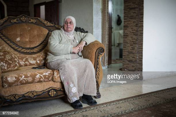 Aunt of Ahed Tamimi sitting on a sofa Ahed Tamimi has been in prison since December 2017 she is a teenage activist in Palestine and her mother was...